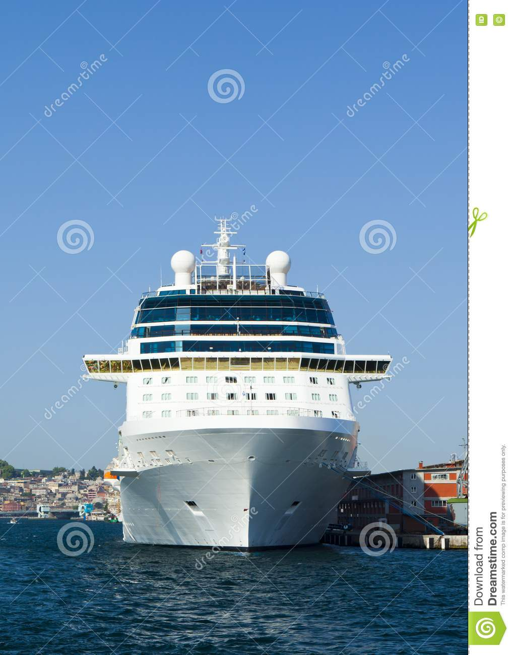 Cruise Ship Front View Stock Image  Image 22585771