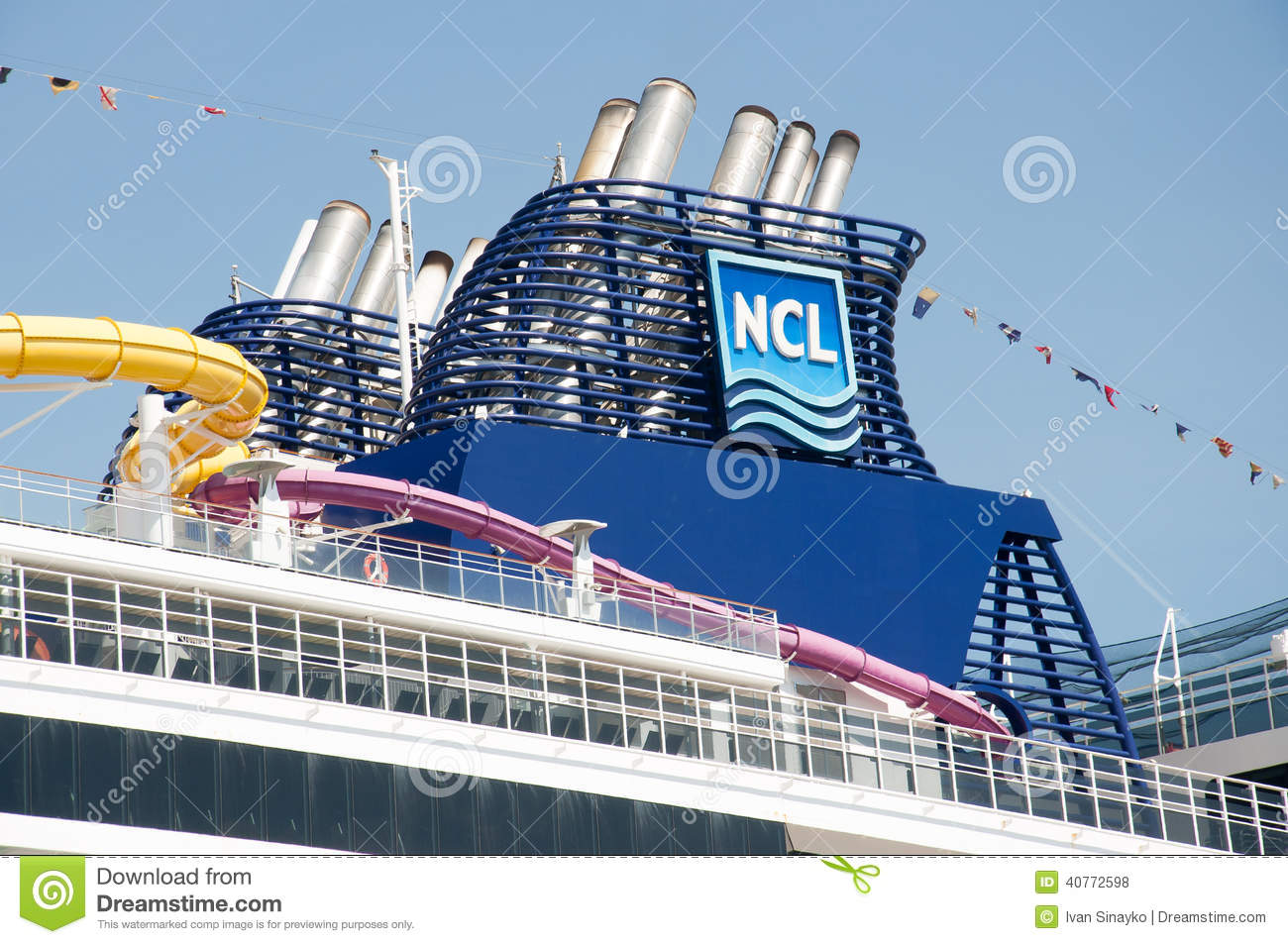 cruise ship funnel editorial stock photo image of brand