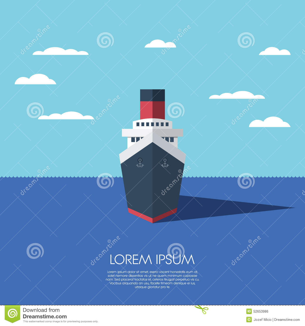 Modern Ship Design : Cruise ship holiday vacation modern flat design stock