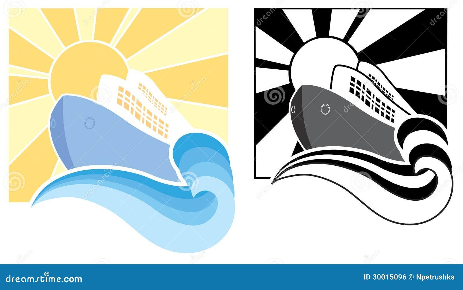Cruise Ship Icons Vector Symbol Illustration Royalty Free