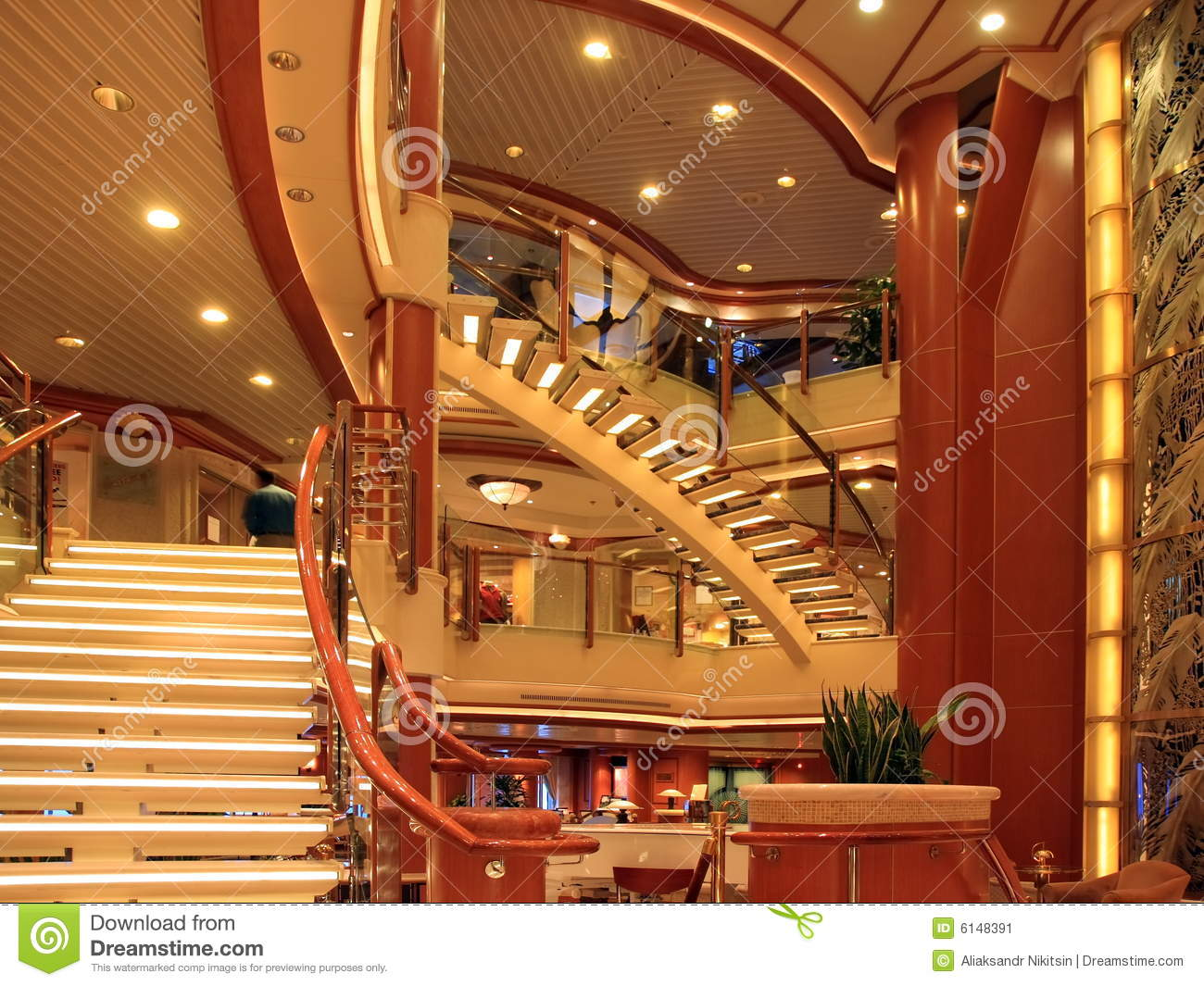 Cruise Ship Interior Stock Image Of Indoors