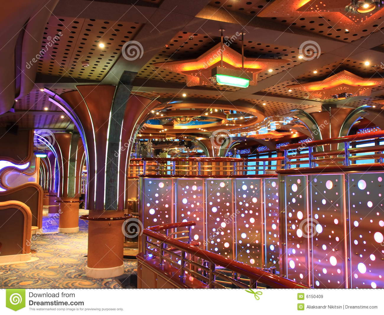 Cruise Ship Interior Stock Image Image Of Elegance