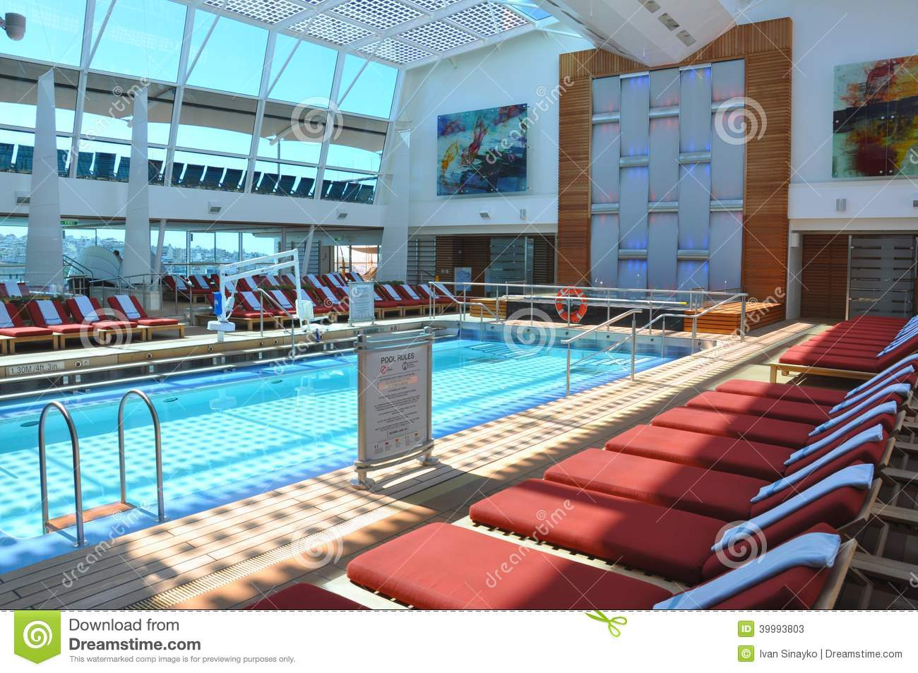 ... pool onboard cruise ship Celebrity Reflection, Celebrity Cruise Line