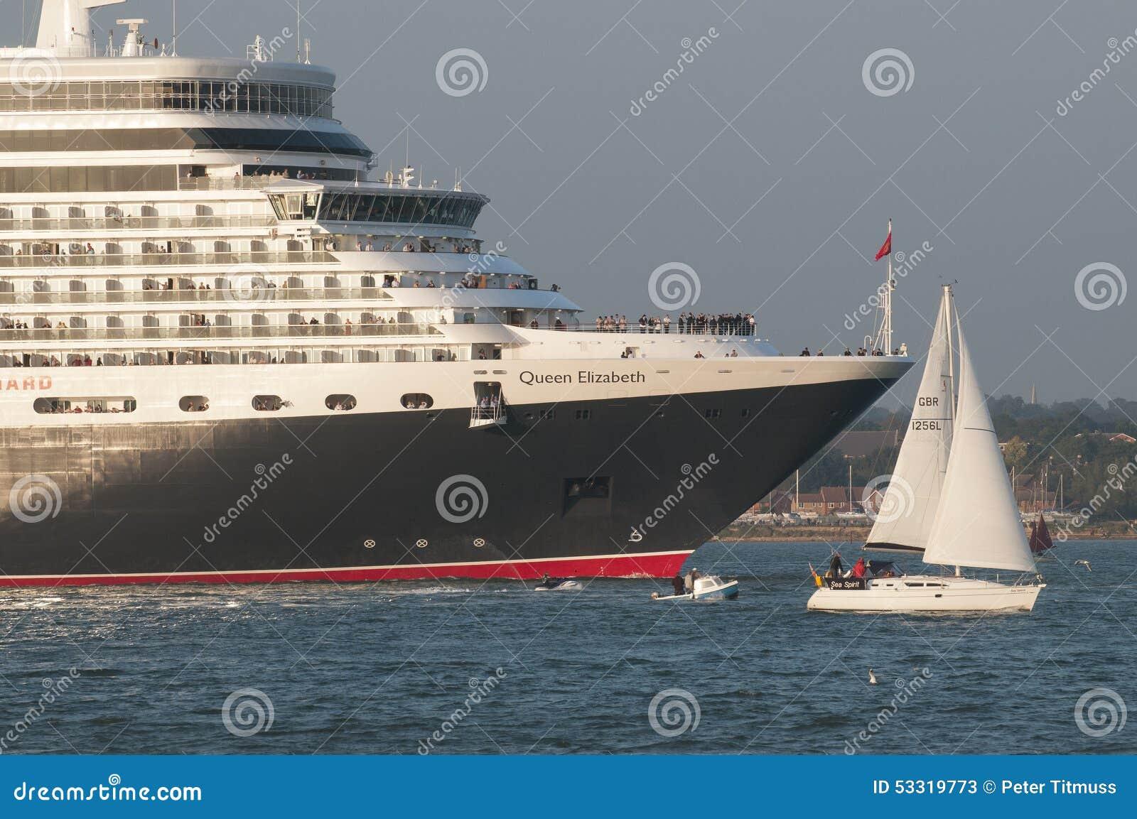 Cruise Ship Leaving Port Of Southampton UK Editorial Stock