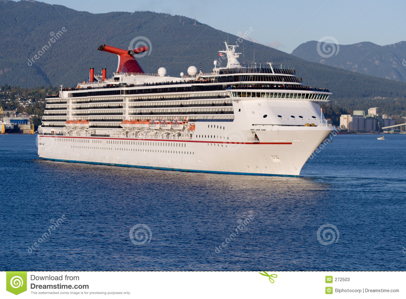 Cruise Ship Leaving Vancouver Harbour Stock Photos  Image