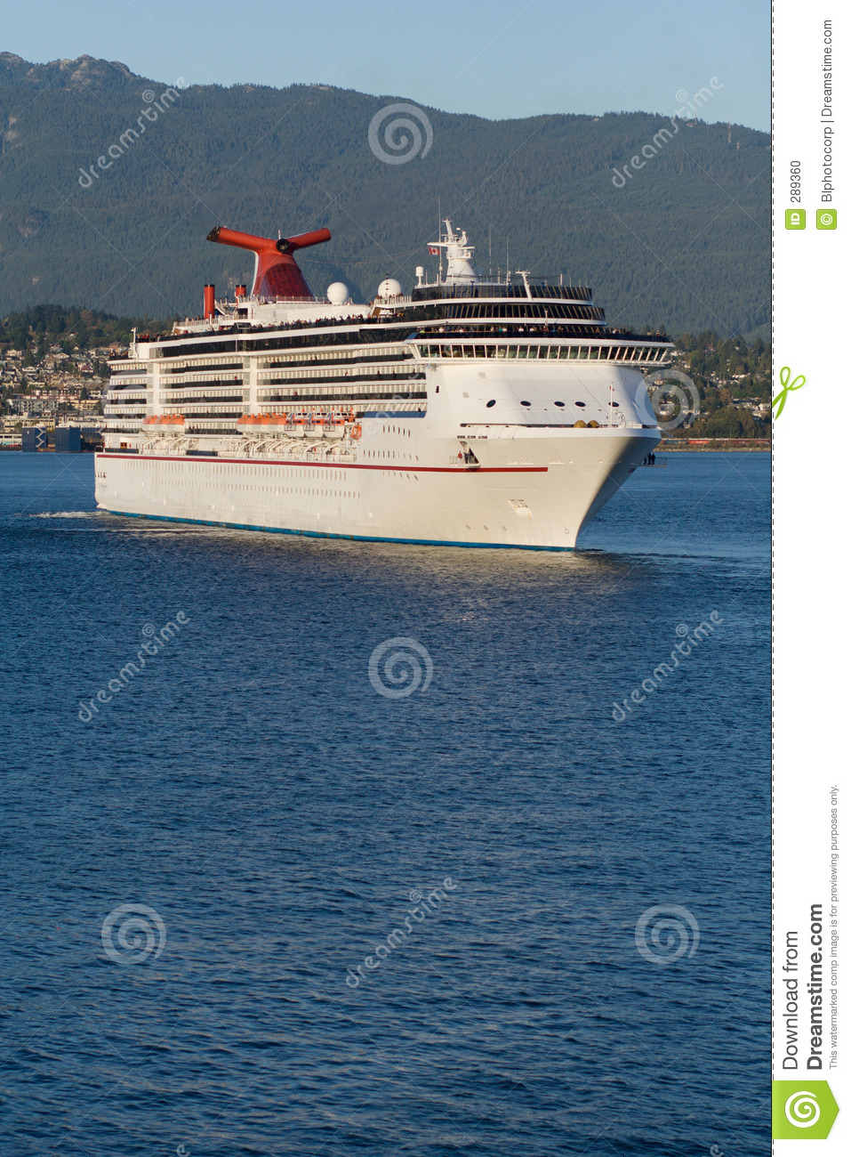 Cruise Ship Leaving Vancouver Harbour 3 Stock Photo