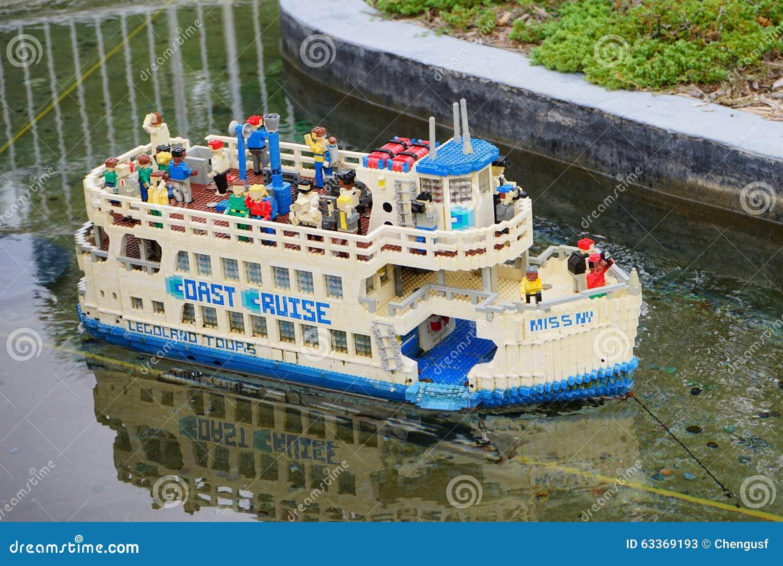 Cruise Ship In Legoland Florida Editorial Stock Photo