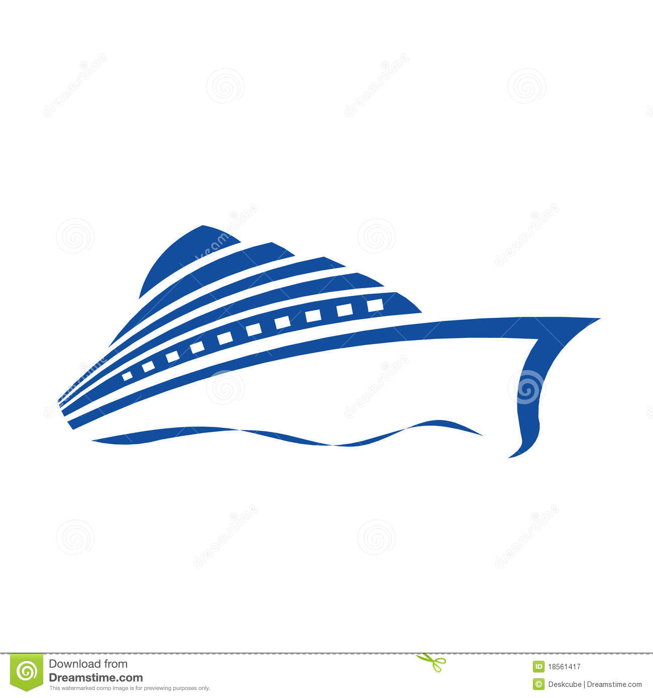 Cruise Ship Logo Royalty Free Stock Photography - Image: 18561417