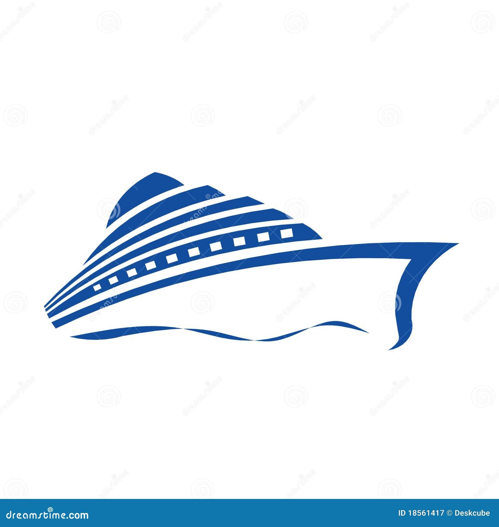 Cruise Ship Logo Royalty Free Stock Photography Image