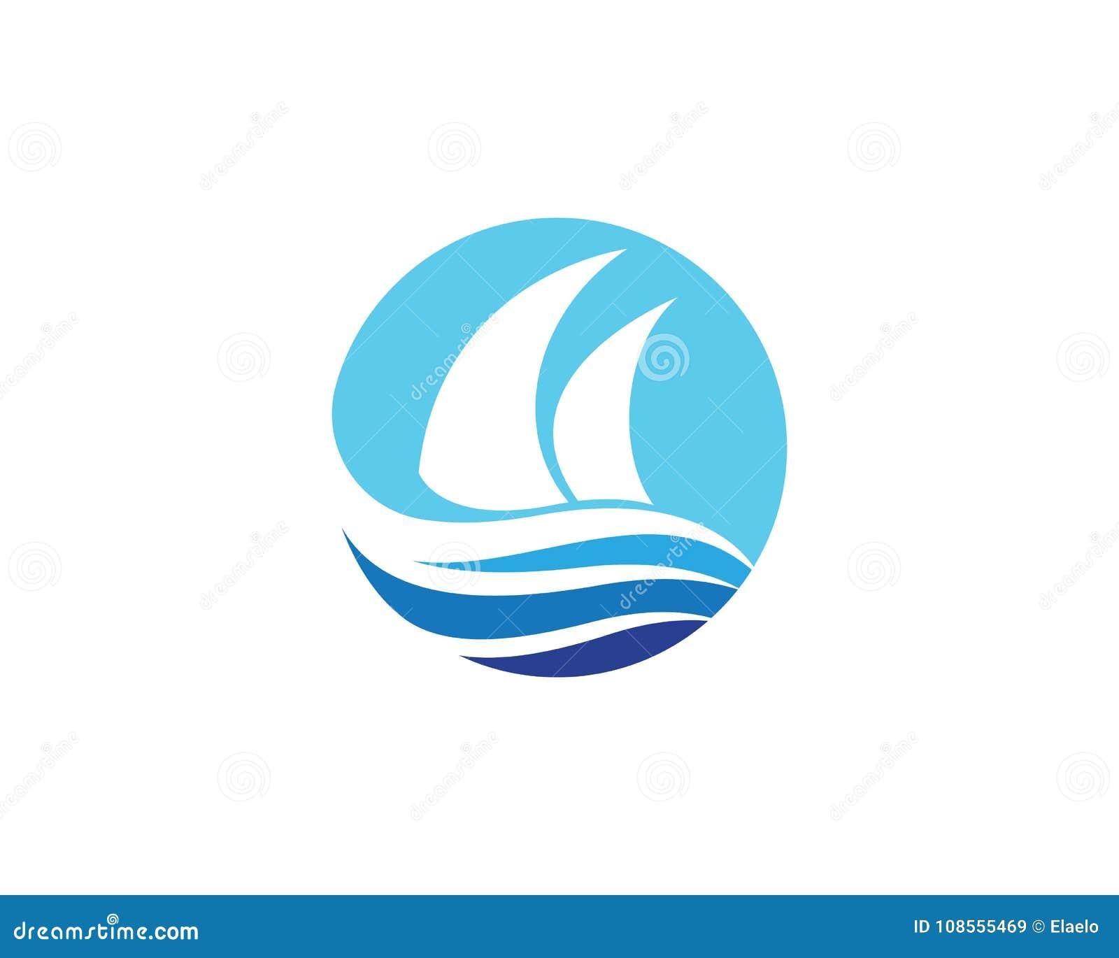 Cruise Ship Logo Template Illustration 108555469 Megapixl