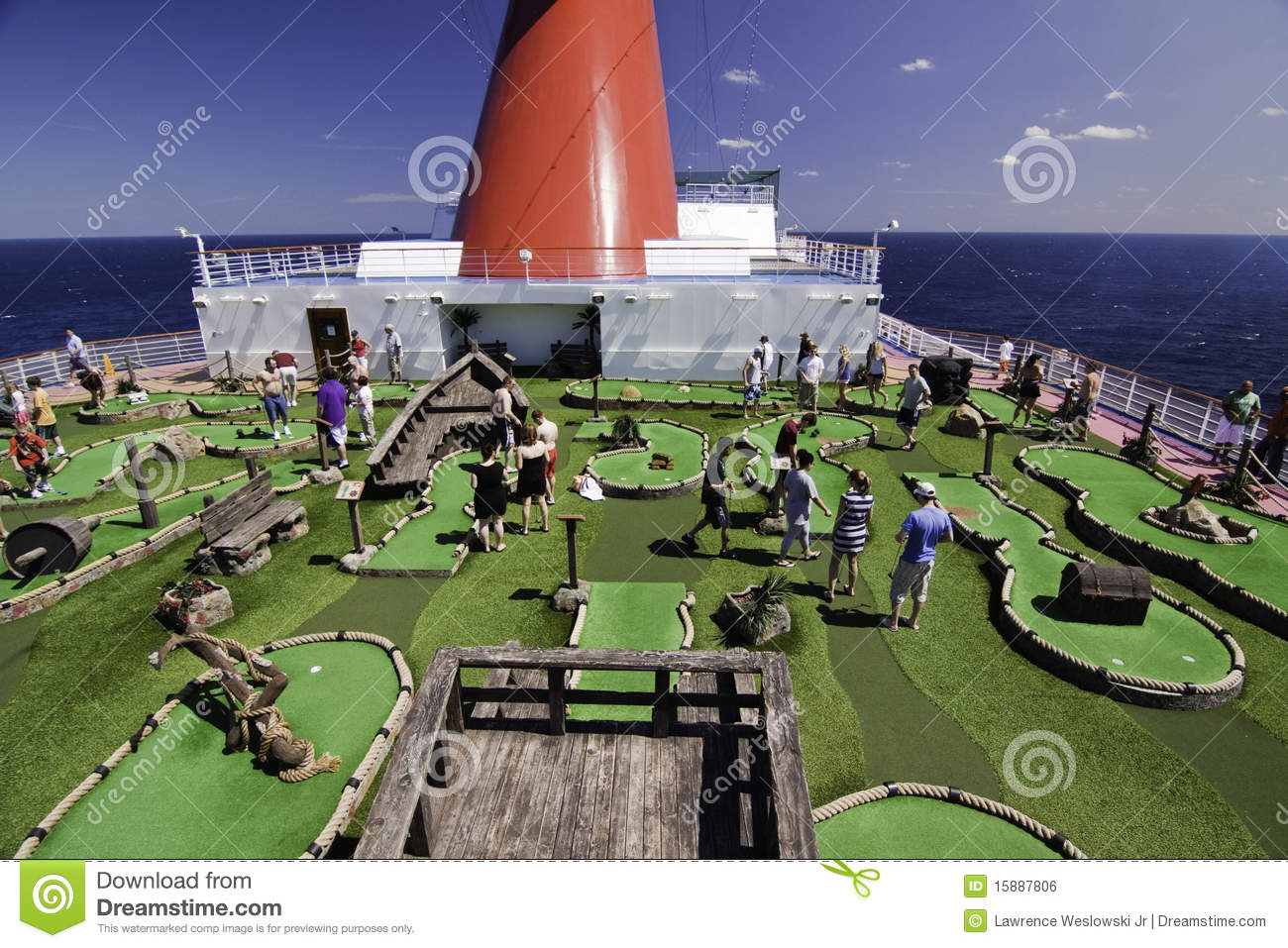 Cruise Ship Mini Golf Course Editorial Photo Image 15887806