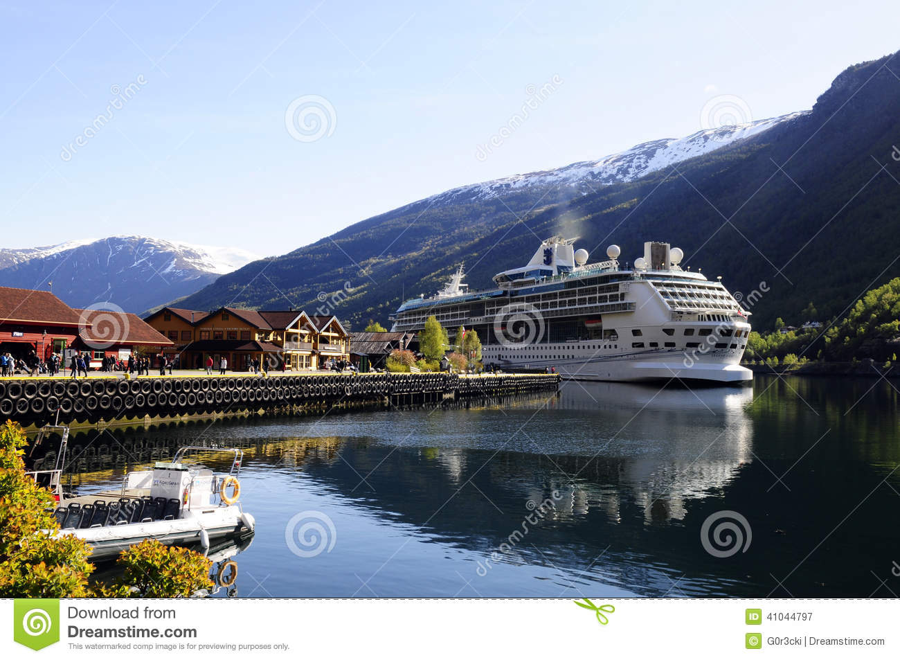 Cruise Ship Moored, Fjord - Norway Editorial Photography - Image: 41044797