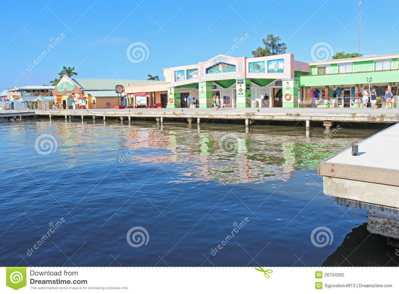 Cruise Ship Passengers Shopping In Belize City Editorial Image - Image ...