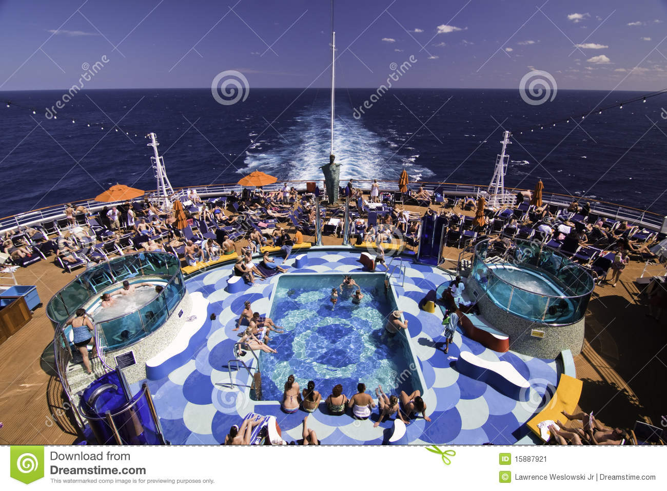 Cruise Ship Pool Party Spot Editorial Image