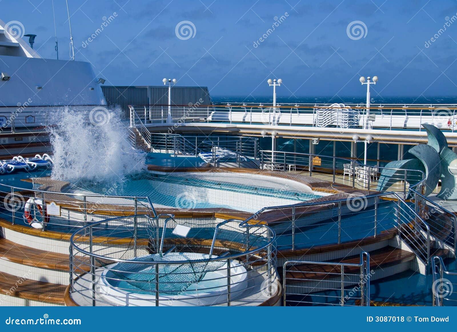 Cruise Ship Pool Wave Stock Photo Image Of Ship Cruise 3087018
