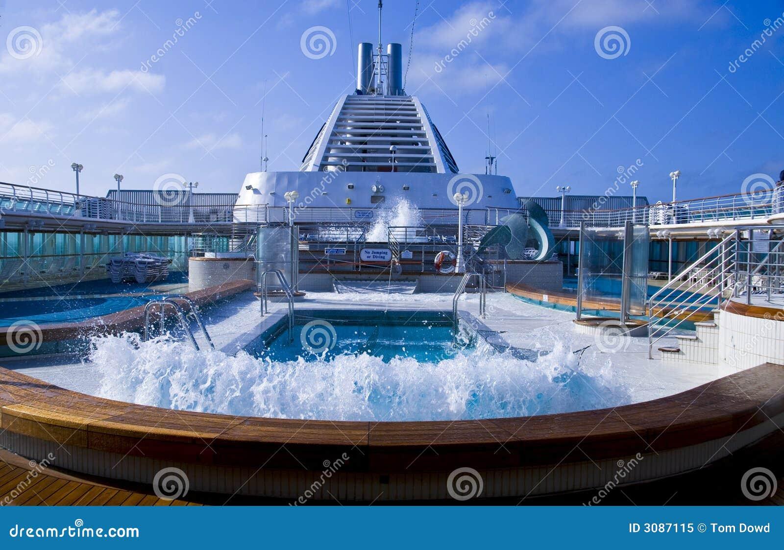 Cruise Ship Pool Wave Stock Image Image Of Railing Cruise 3087115