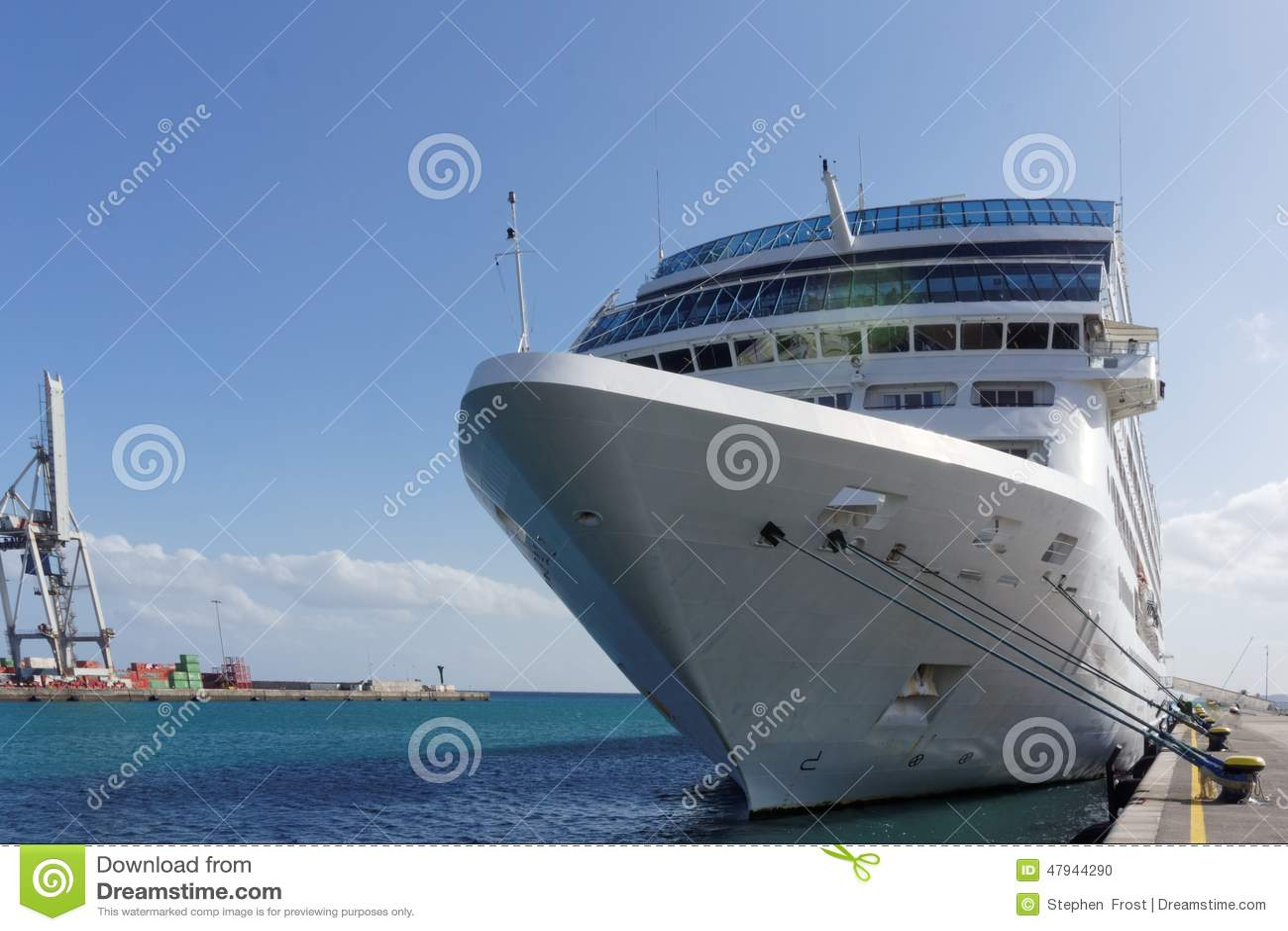 Cruise Ship In Port Stock Photo Image Of Passenger Adonia - Example of cruise ship