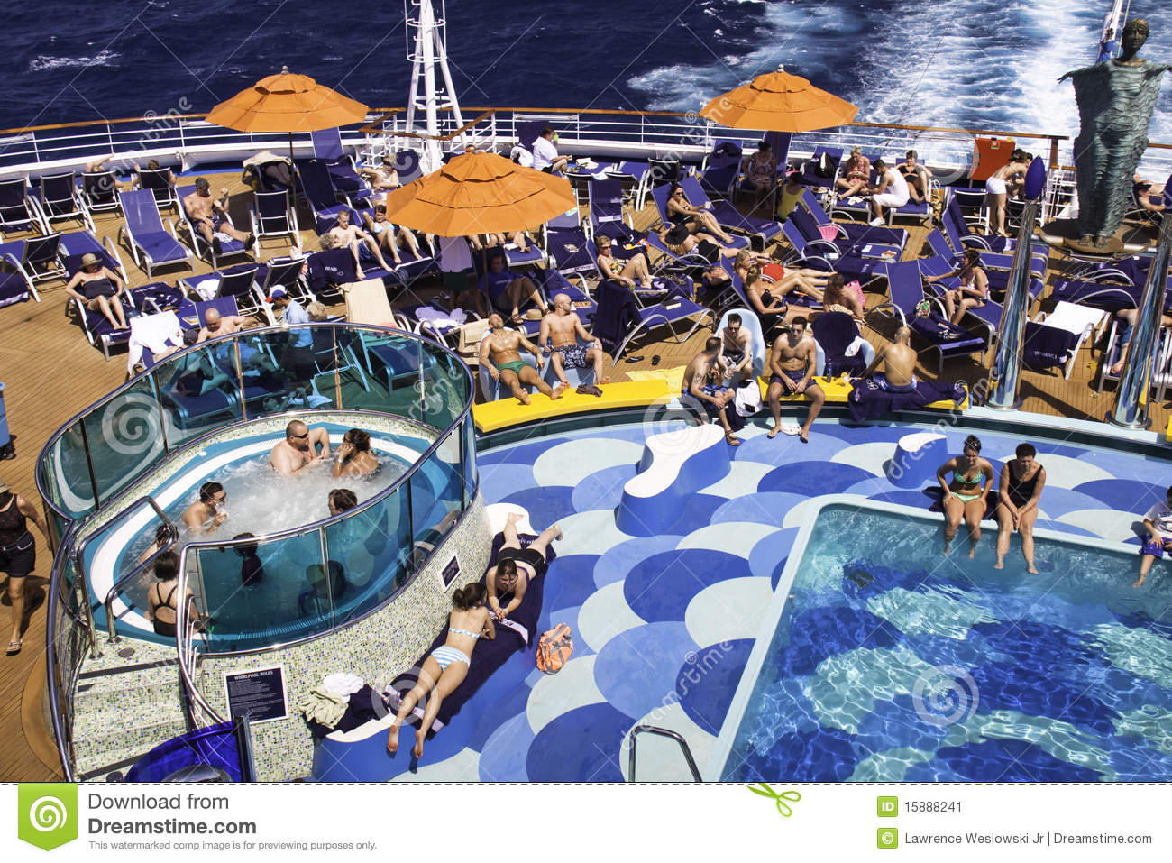 Cruise Ship Relaxing By The Pool Editorial Photo Image 15888241