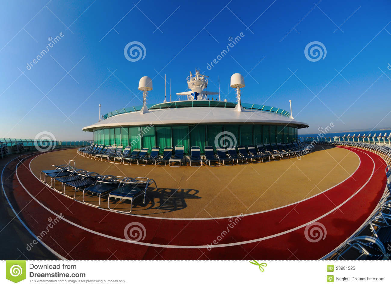 Cruise Ship Running Track Stock Image Image Of Jogging - Track a cruise ship