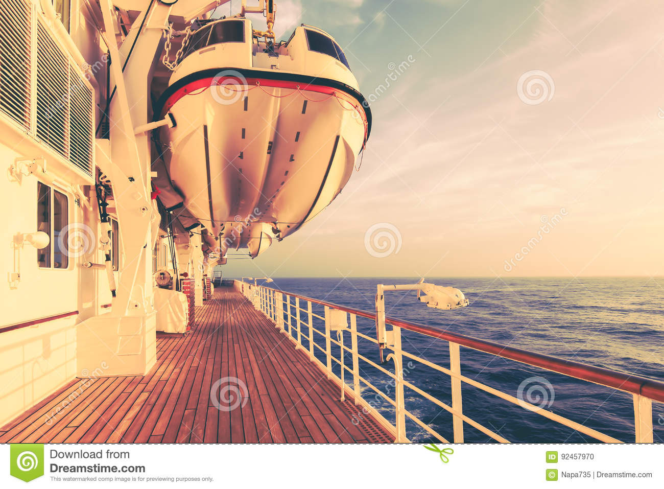 Cruise Ship And Safety Travel  Stock Photo - Image of