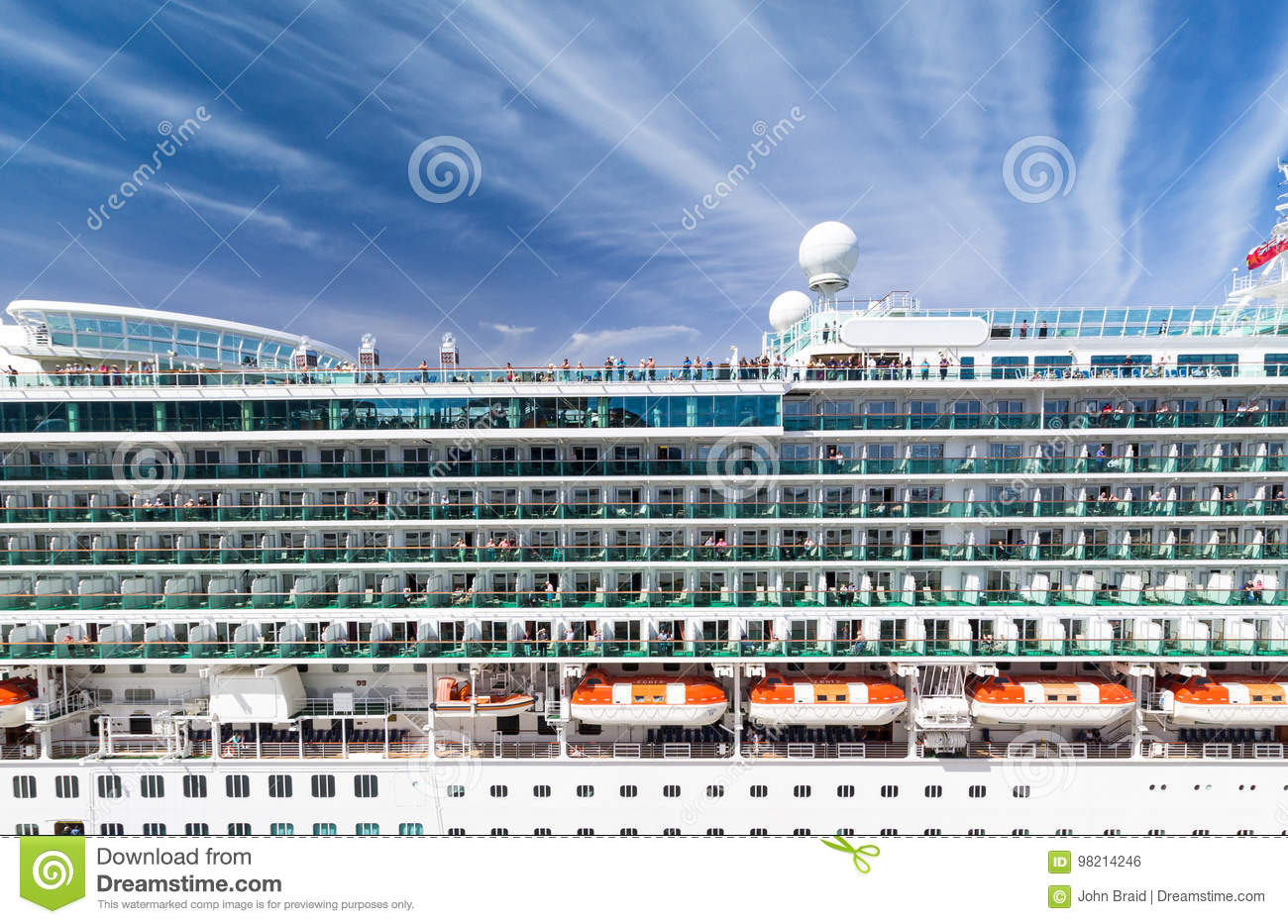 Download Cruise Ship Side View Editorial Photo Image Of Multiple