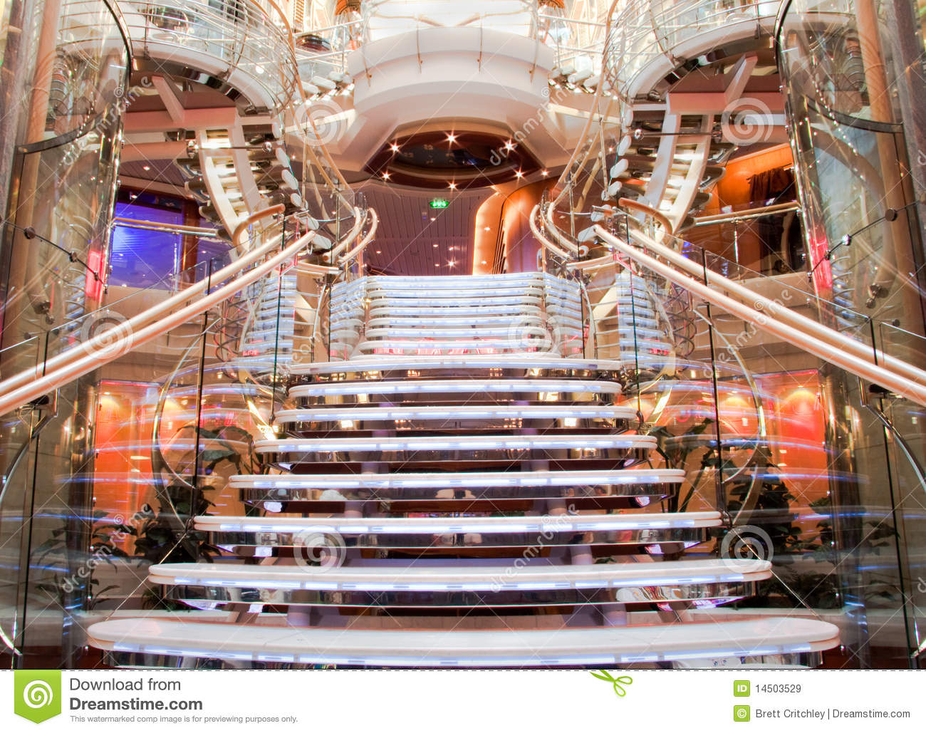 Cruise Ship Staircase Royalty Free Stock Images Image
