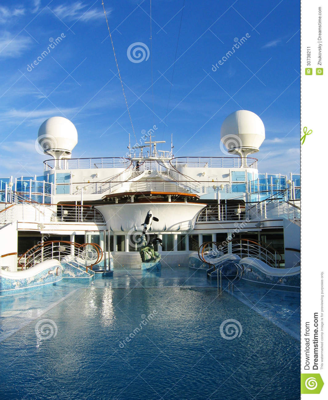 Cruise ship swimming pool at the upper deck stock image - Wetherby swimming pool swim times ...
