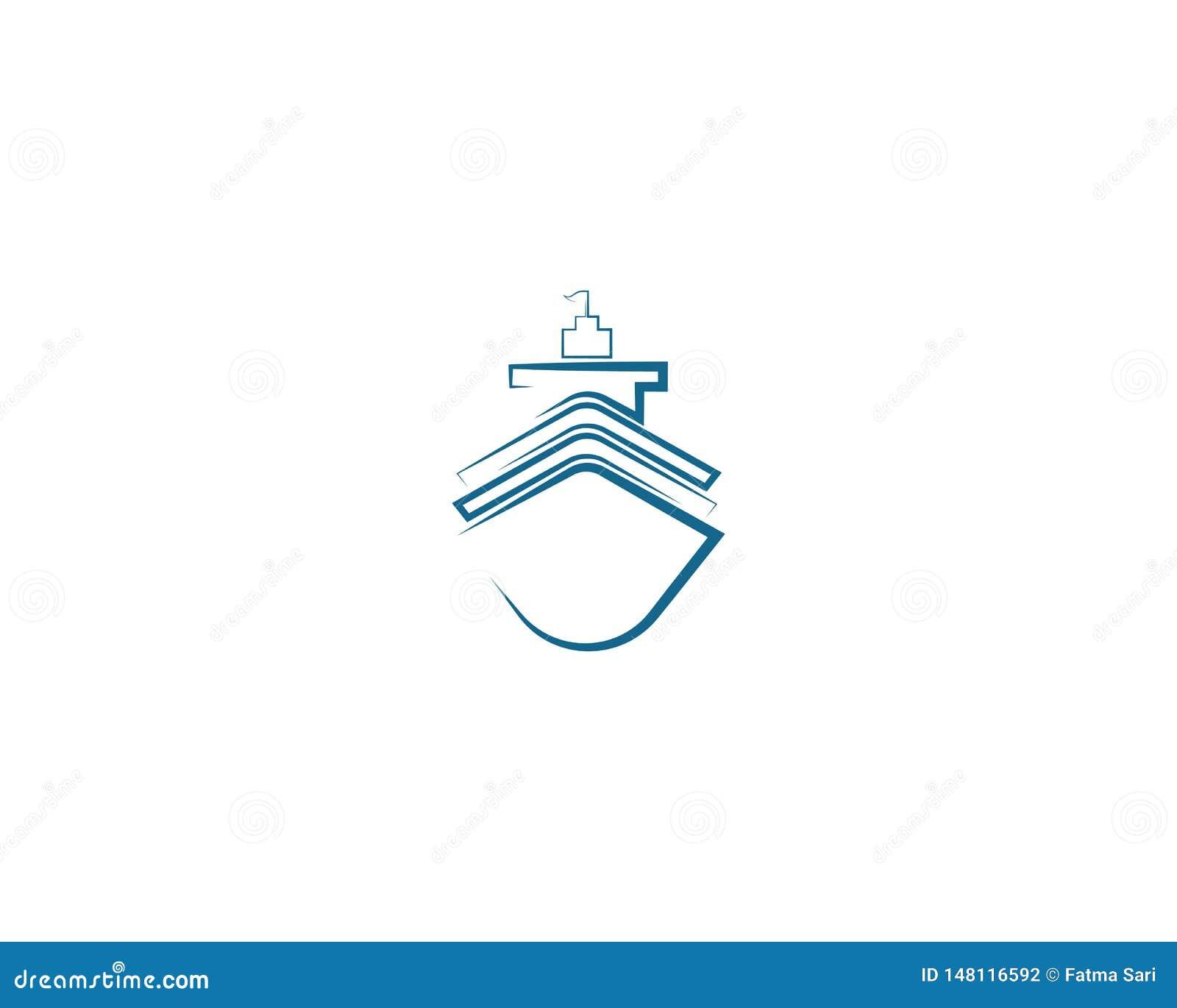 Cruise ship symbol illustration