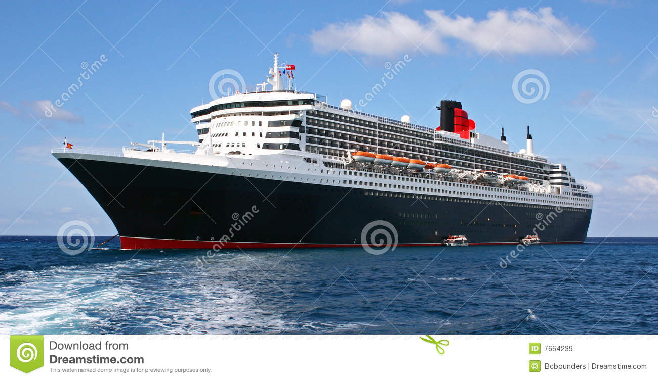 Download Cruise Ship with Tenders stock image. Image of cruise - 7664239