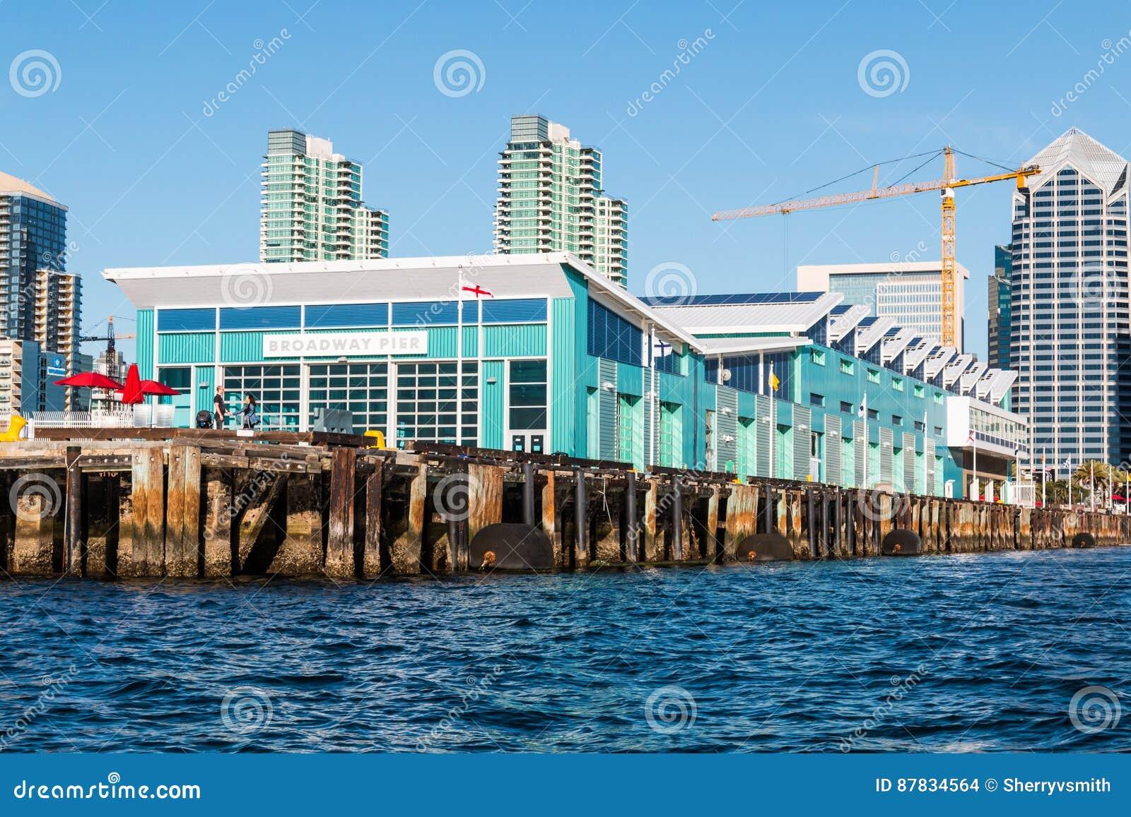 Cruise Ship Terminal On Embarcadero In San Diego Editorial Stock