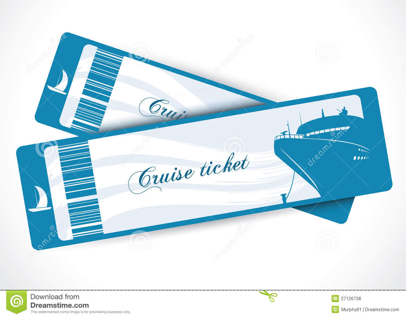 Cruise Ship Tickets Royalty Free Stock Photos - Image: 27126738