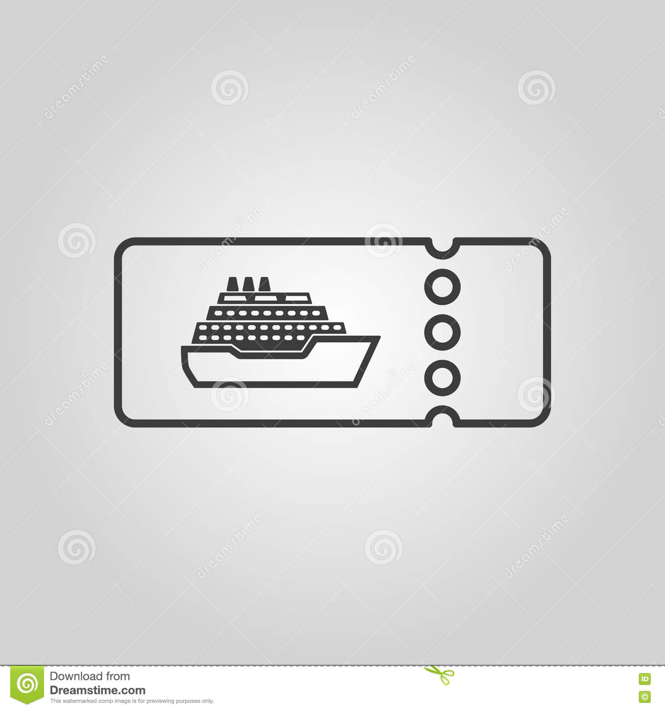 The Cruise Ship Tickets Icon Travel Symbol Stock Vector