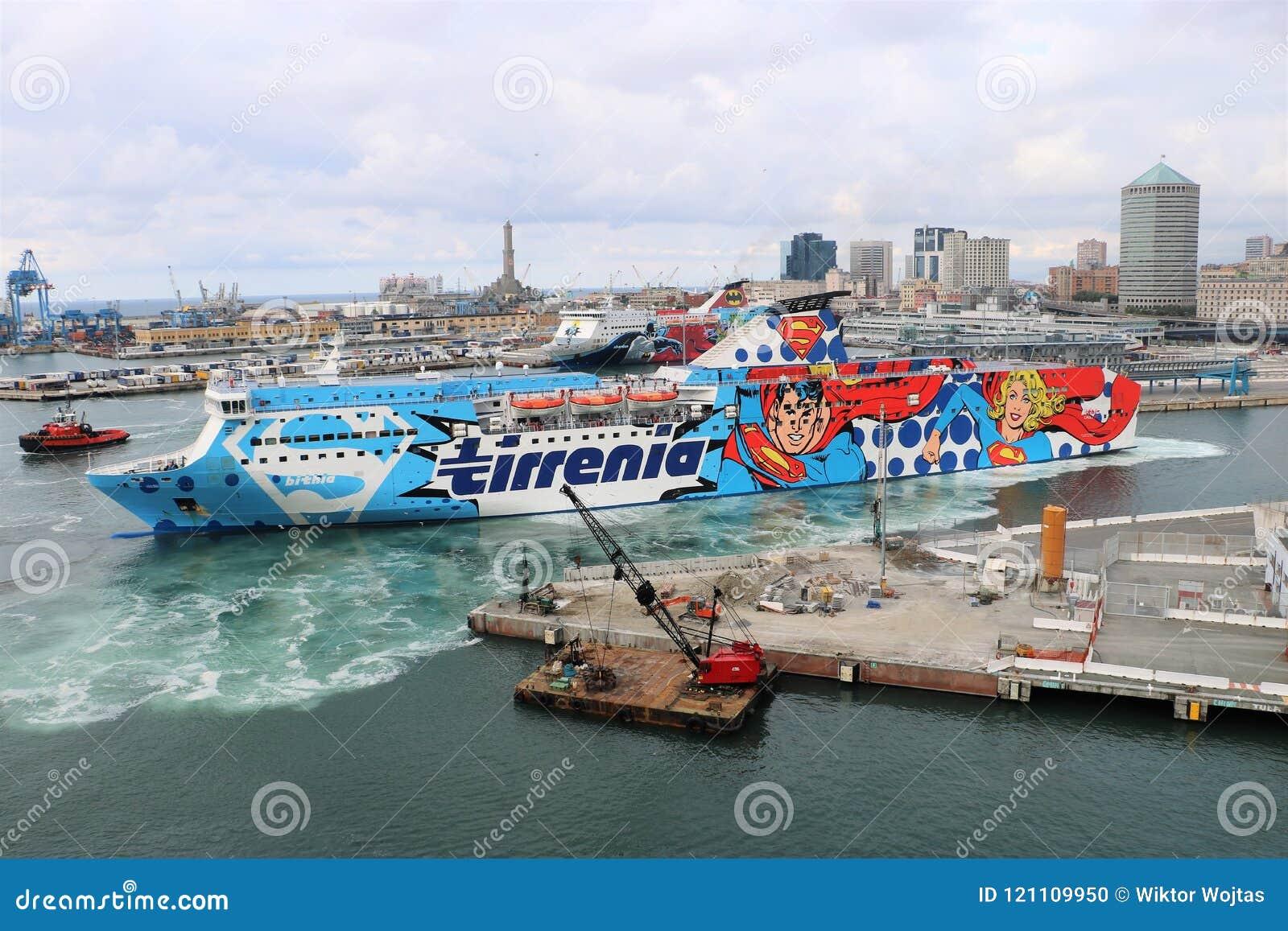 Cruise Ship Tirrenia Bithia Editorial Image Image Of Navigazione