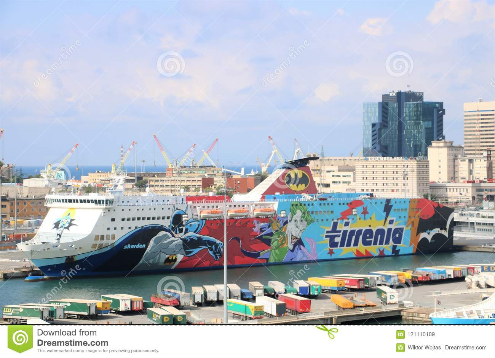 Cruise Ship Tirrenia Sharden Editorial Stock Image Image Of