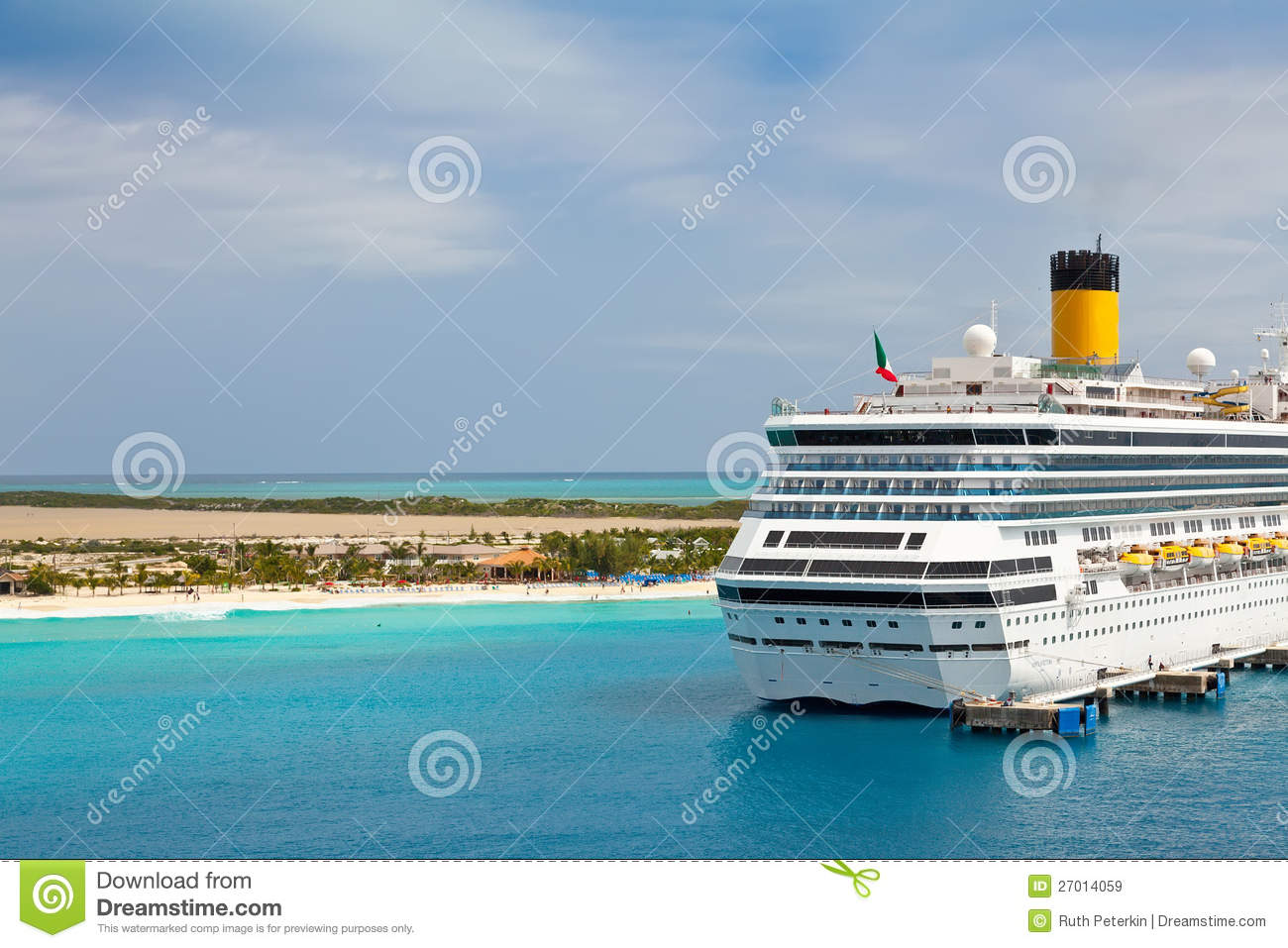 Cruise Ship In Turks And Caicos Islands Stock Image Image - Turks and caicos cruise ship schedule