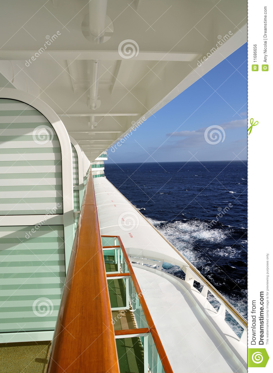 Cruise ship view from the balcony royalty free stock image for Cruise balcony