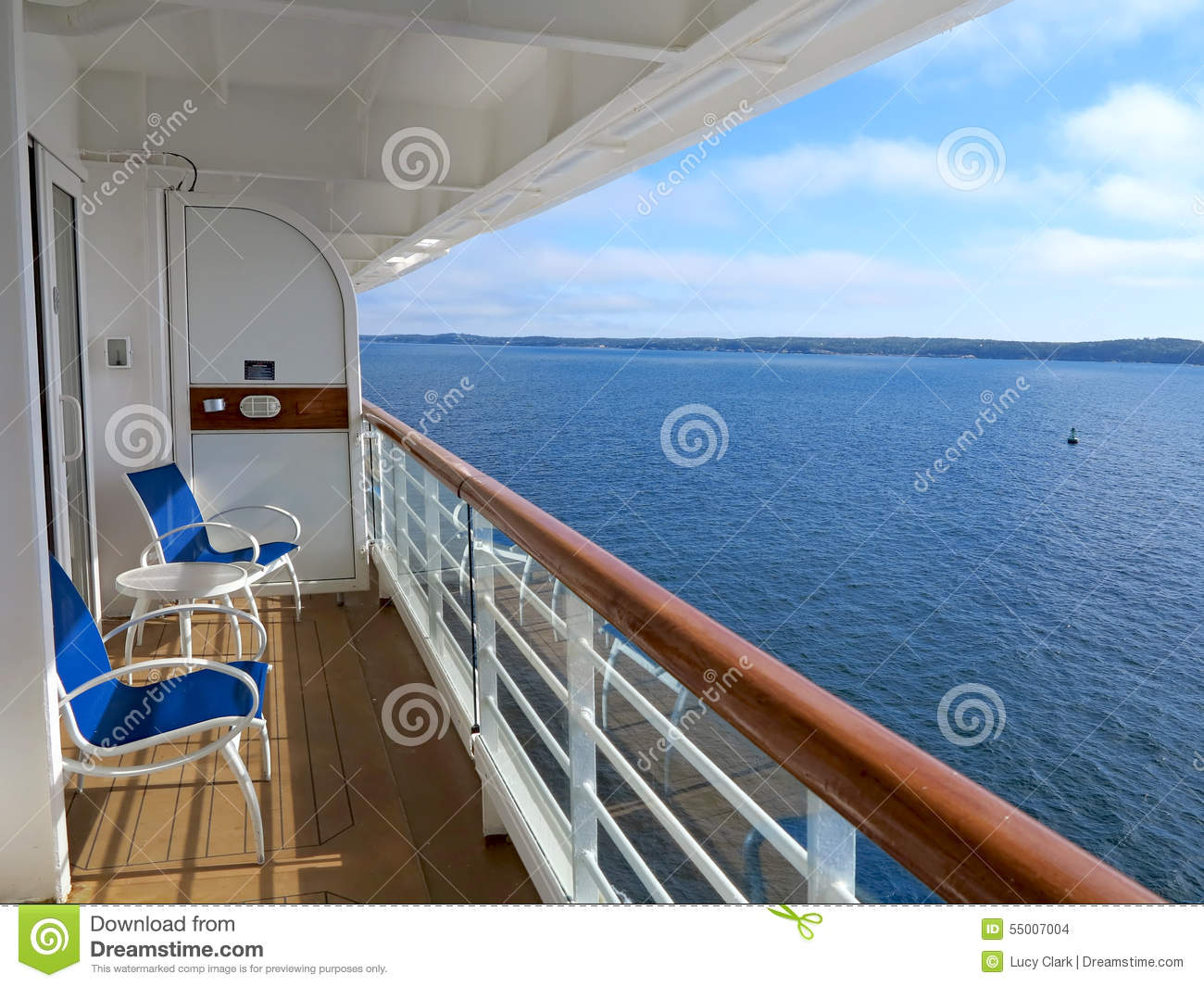 Cruise ship view stock photo image 55007004 for Cruise ship balcony view