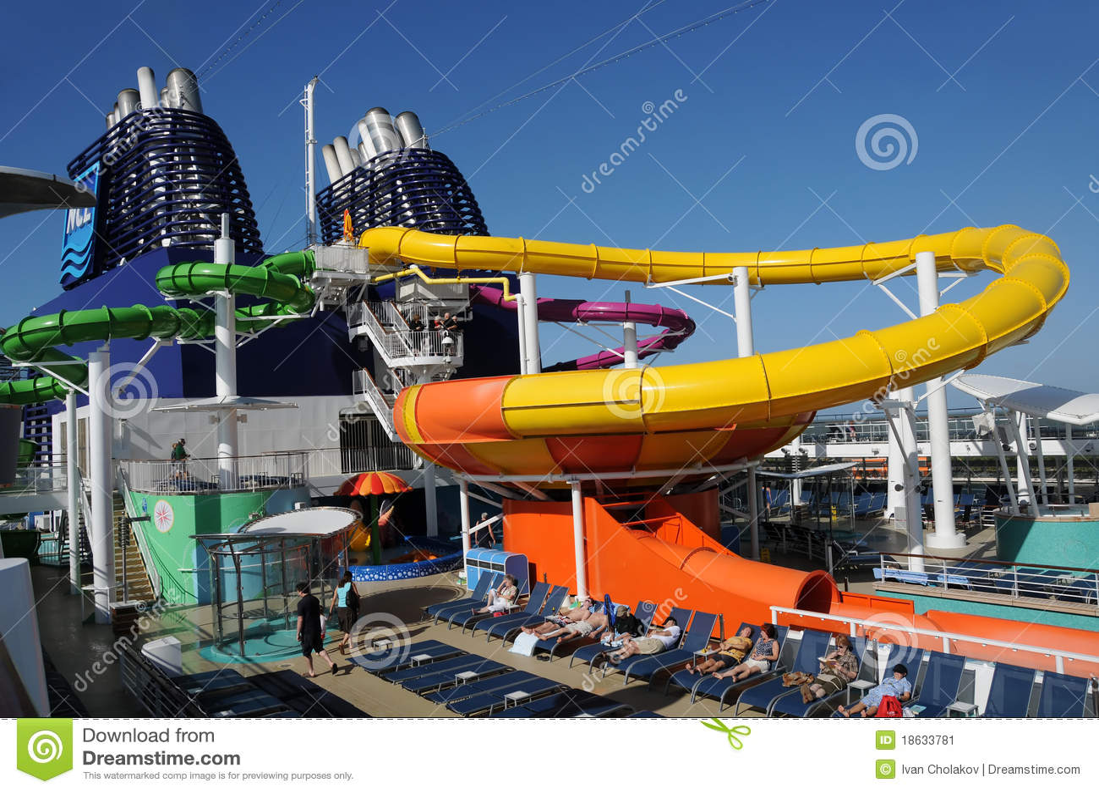 Cruise Ship Water Slide Editorial Photo Image Of Water - Cruise ship slide