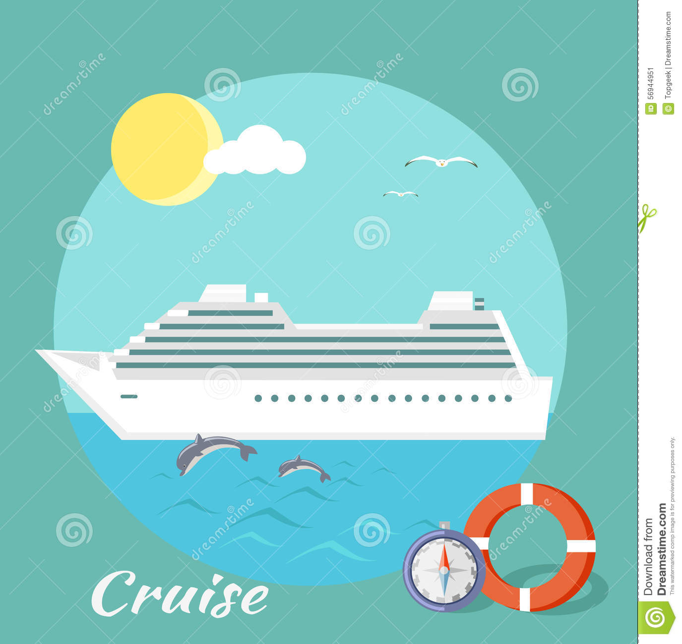 Cruise Ship  Water Tourism stock vector  Illustration of holiday