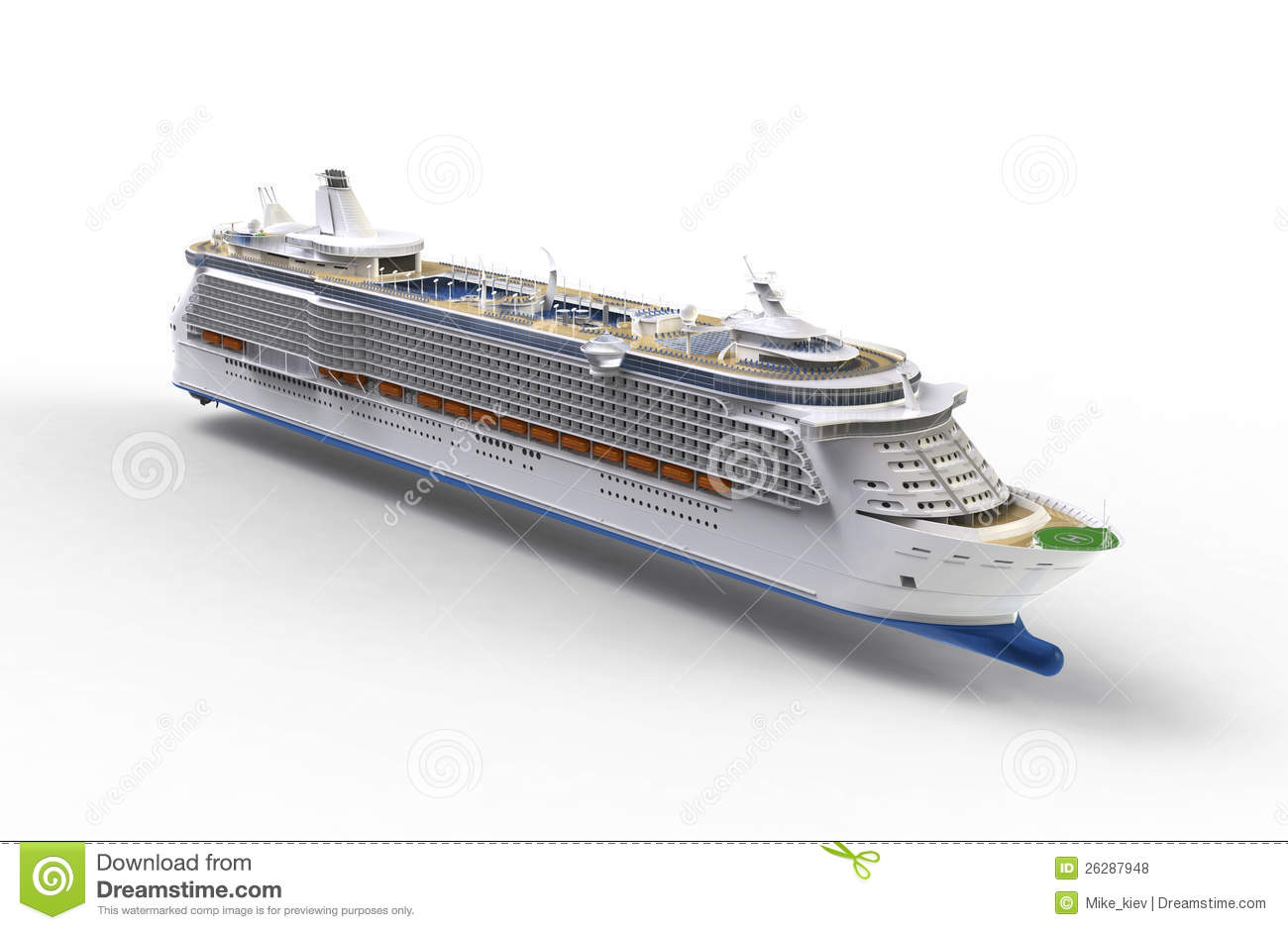 Cruise ship on white stock illustration illustration of for High end cruise ships