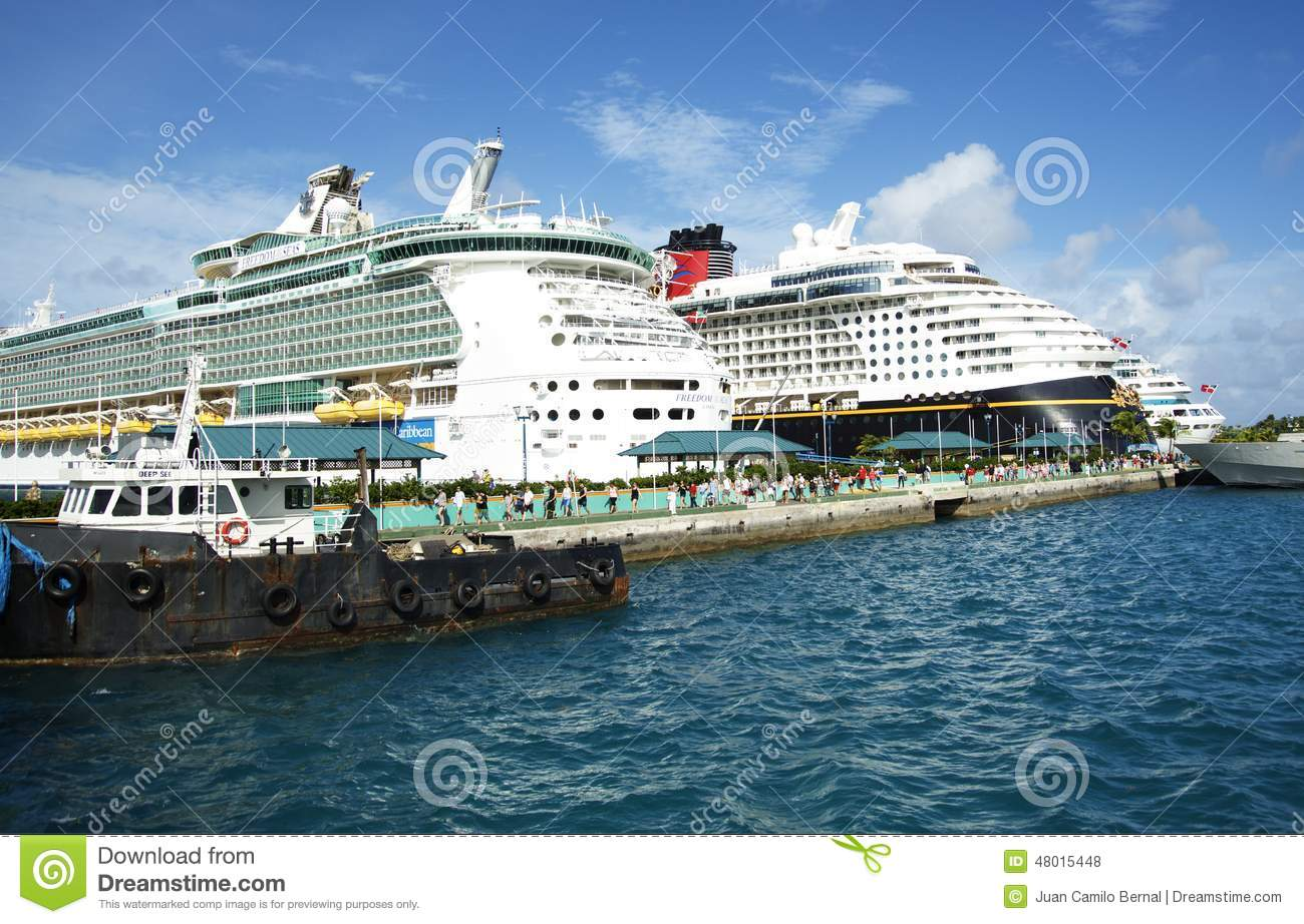 Cruise ships in bahamas editorial stock photo image of nassau 48015448 - Cruise port nassau bahamas ...