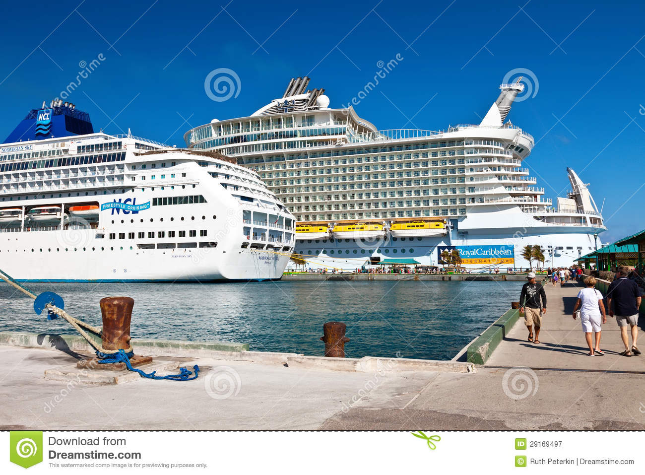 Cruise ships in nassau bahamas editorial photography image of tourists dock 29169497 - Cruise port nassau bahamas ...