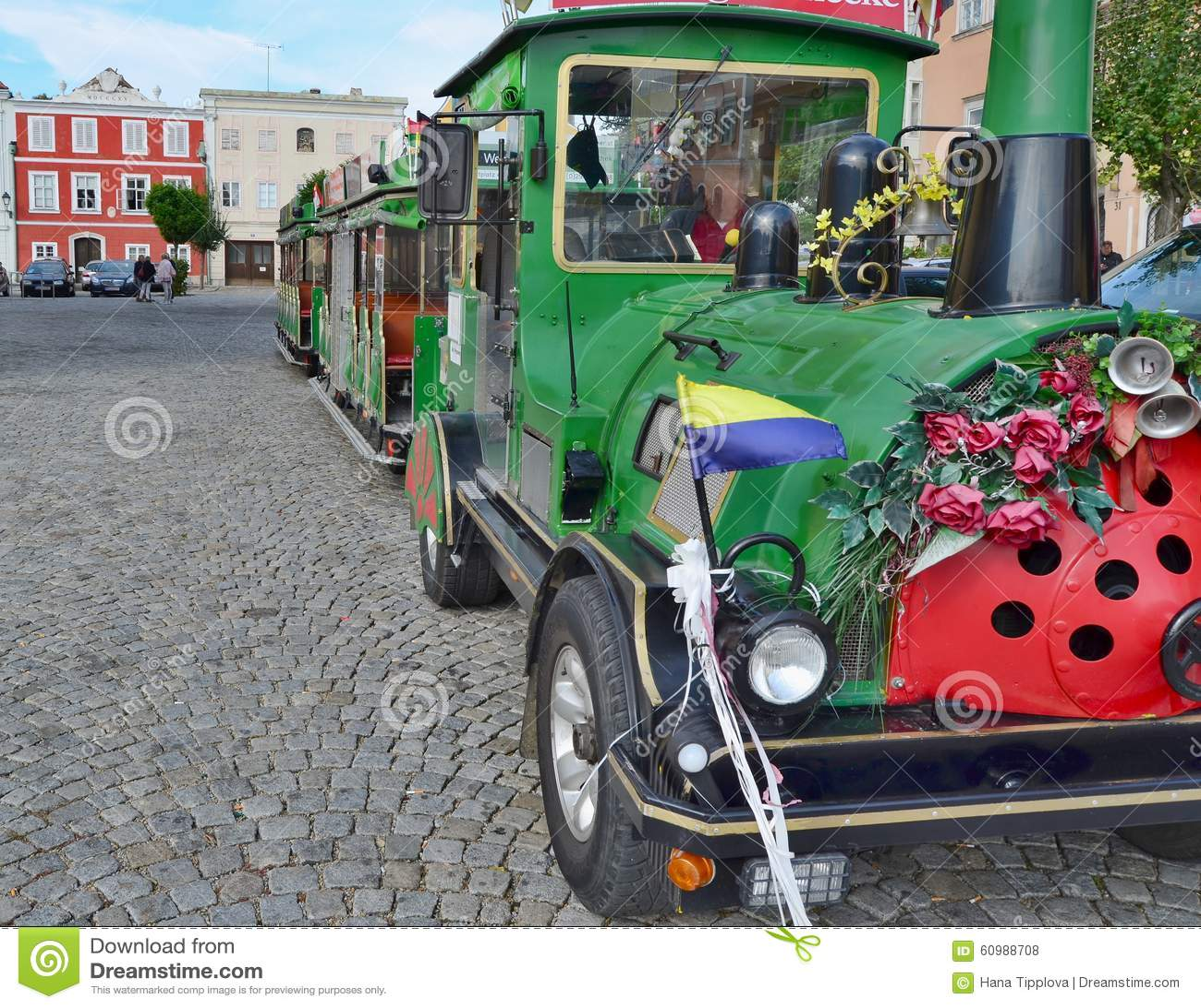 Cruise tourist train. Retz city