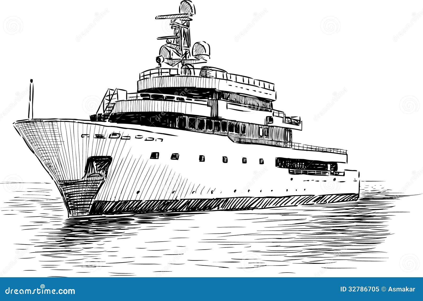 Cruise Yacht Royalty Free Stock Photo Image 32786705