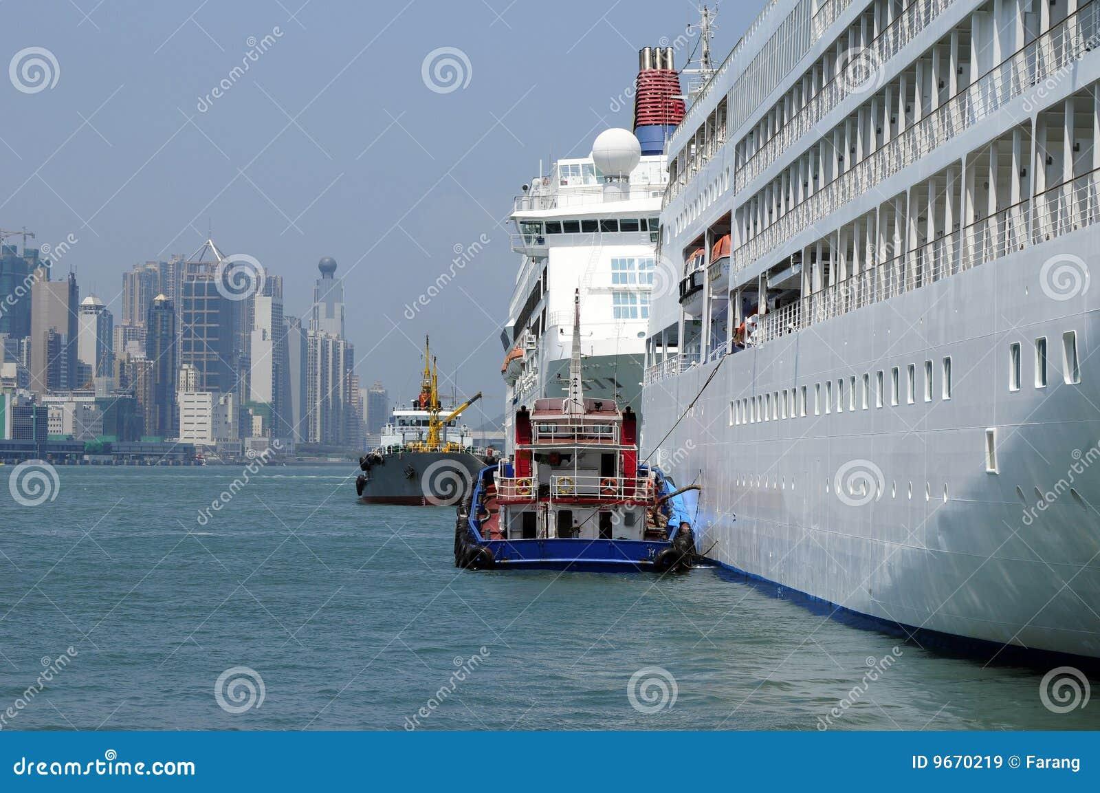 Cruiseship Terminal Hong Kong Royalty Free Stock Images