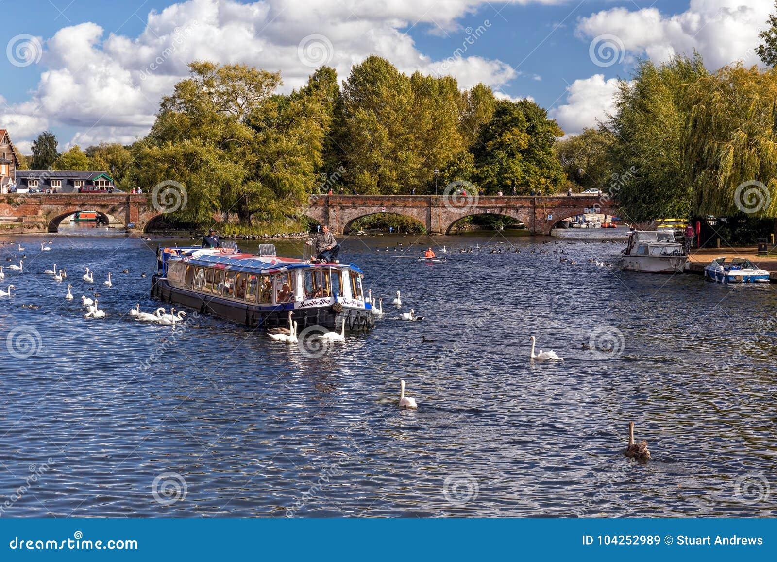 Cruising On The River Avon Stratford Upon England