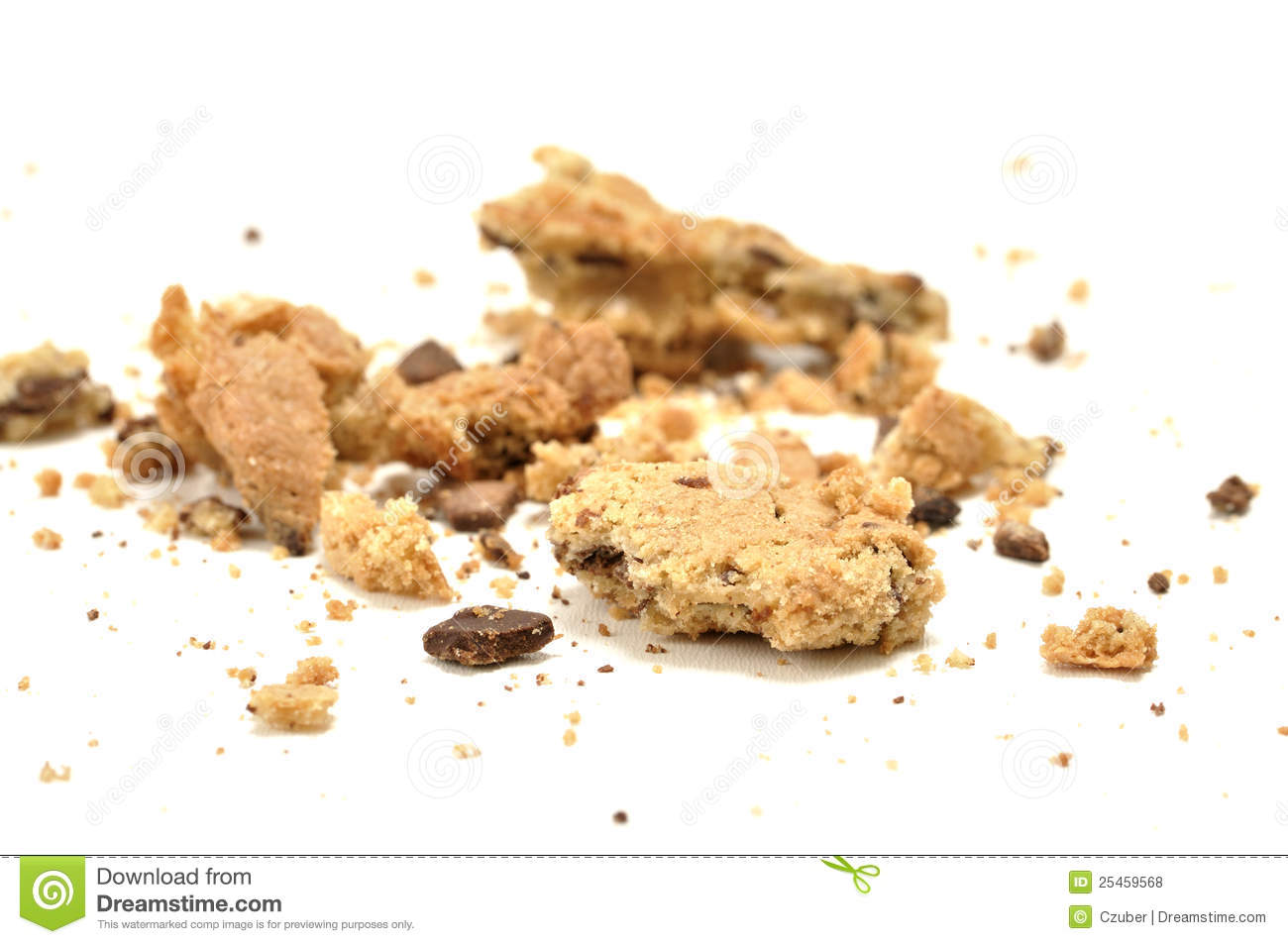 Crumbled Cookie Royalty Free Stock Photos - Image: 25459568