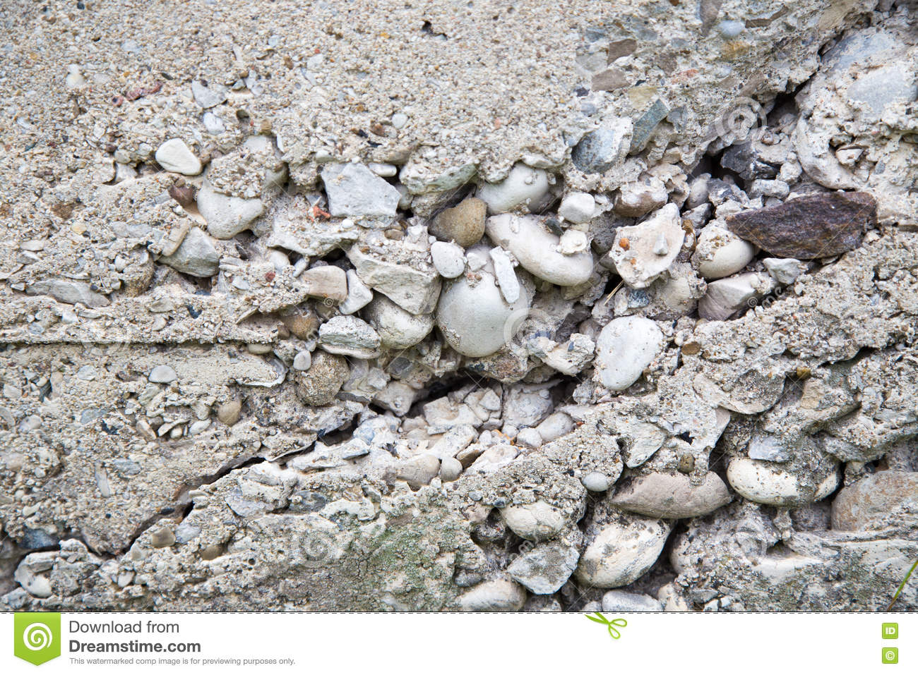 Crumbling Concrete Foundation Wall Stock Image - Image of ...