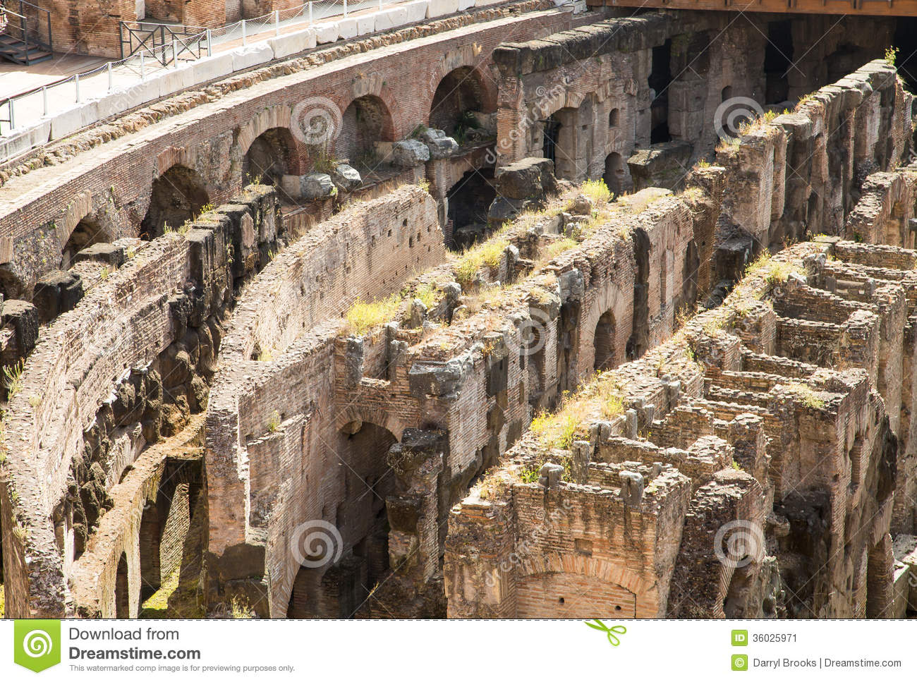 Crumbling labrynth under coliseum stock image image 36025971