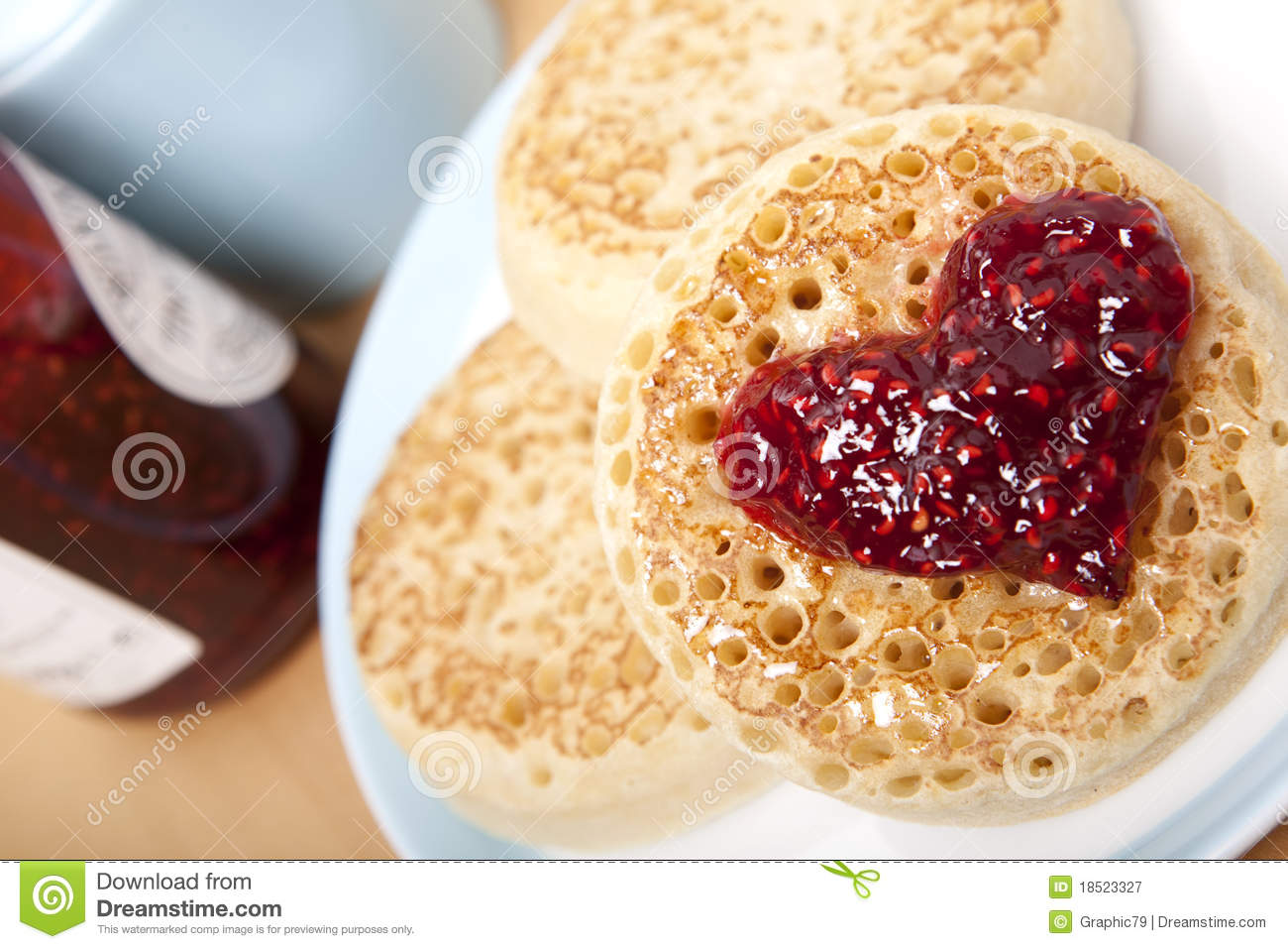Crumpets Royalty Free Stock Photography - Image: 18523327